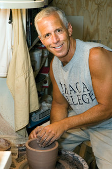 Jack Dembow '71 in his pottery studio                          Photo by Sheryl D. Sinkow