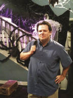 Jack Powers on the set of Modern Family during the filming of its Halloween episode.