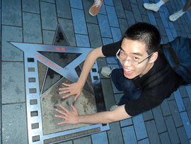Jackie Chan's star on the Avenue of Stars in Hong Kong!
