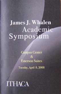 James J. Whalen 2008 Academic Symposium program cover