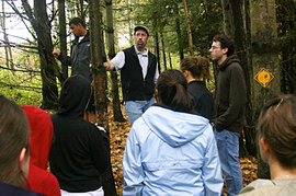Jason Hamilton teaching a class  at a local bog