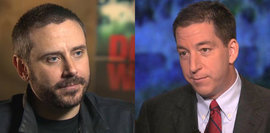 Jeremy Scahill (left) and Glenn Greenwald will speak as part of the I.F. Stone Hall of Fame induction ceremony on April 28.