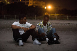 Jharrel Jerome (left) and Ashton Sanders. Photo by David Brownfriend, Courtesy of A24.