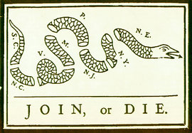 Join or Die!  The Albany Plan (1754)