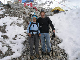Judy & Ryan at Everest Base Camp