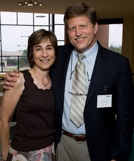 Judy and Jerry at the 2007 Taste of the Nation on the IC campus; Jerry has chaired the event for many years, and Judy long volunteered as its finance