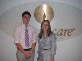 Junior CMD major Willie Sleight poses with Mandy Kessler, a 2008 Park Scholar alum