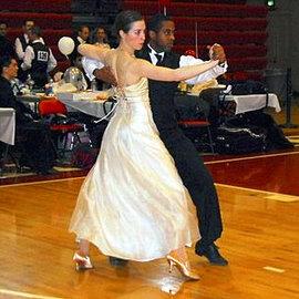 Katie Crutchfield '10 and Roman Issac '10 compete.