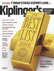 Kiplinger�s Personal Finance magazine named Ithaca College one of the 100 best values in private universities for 2010�2011