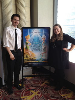 Kyla Pigoni '13 and Greg Dunbar '10 after working a movie premiere.