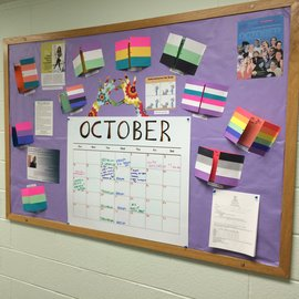 LGBT Center Bulletin Board; Coming Out Month
