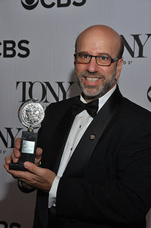 Larry Hirschhorn '80 poses at the Tony Awards.
