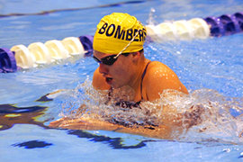 Lauren Botterbusch '10 was named Empire 8 Swimmer of the Year for 2008–09. Photo: Tim McKinney