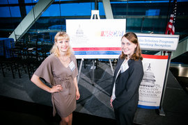 Lauren Denecke �16 and Sara Harmon �16 earned individual scholarships and took second place in the 2014 Media Plan Case Competition.