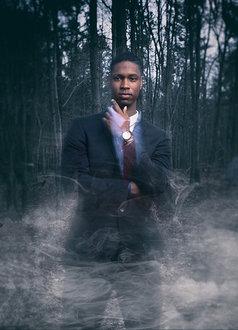 Leonard Davis in the woods where he hosts Fear Walk