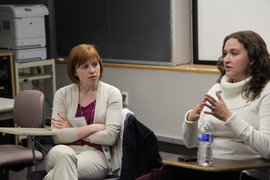 Lindsey Knox '07 and Morgan Steele Connacher '05 give advice based on their experiences.