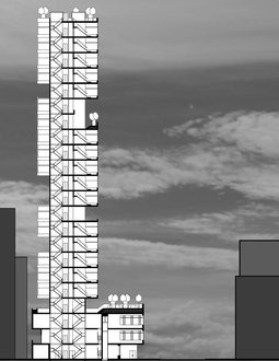 Logan Weaver, Micro-Housing, NYC Architecture Spring, 2015 (AutoCAD)