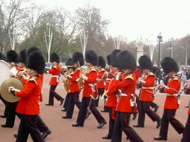 London Beefeaters on the march