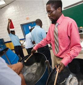 Luben Daniel '12 at Charlotte Amalie High School. Photo by Steve Simonsen