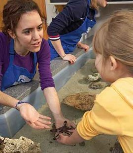 MLK Scholar Maria Gonzalez '08 volunteering at the Ithaca Sciencenter