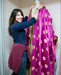 Madison Ryckman, '11, costume designer for Top Girls, Ithaca College's first main stage production of the season. Photo by Martha Pace '12