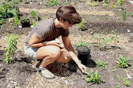 Madison Vander Hill Working in the Garden