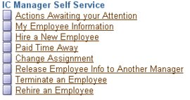 Manager Self Service