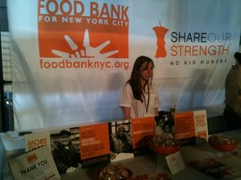 Mandy Kessler '08 representing the Food Bank at the NYC Wine & Food Festival