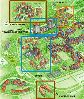 Map Of Ithaca College Residence Halls