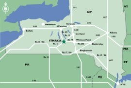 Map of Ithaca Region