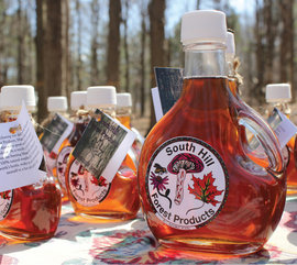 Maple syrup produced by class