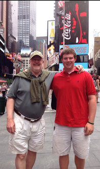 Matthew Stenberg in Times Square