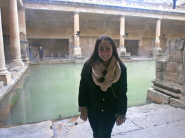 Me at the Roman Baths in Bath