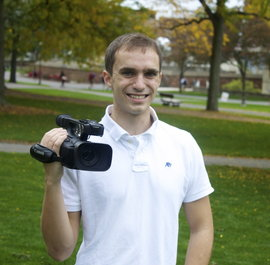 Me holding my Video Camera
