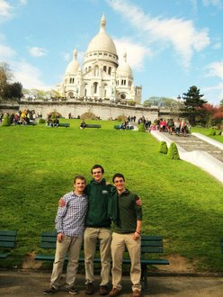 Me (middle) and two friends in Paris