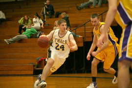 Me playing for the Ithaca College Basketball Team