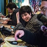 Me volunteering at WFMU.