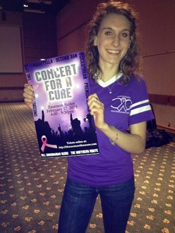 Megan Devlin, '14, was one of the Concert's coordinators.