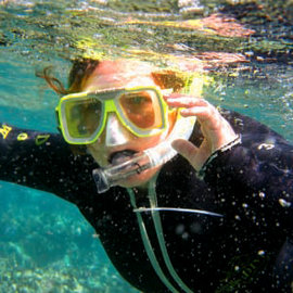 Meghan Swope '11 snorkeling in the Great Barrier Reef, one of the Seven Wonders of the World. Photos courtesy of Meghan Swope