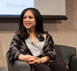 Melissa Harris-Perry at the Engaging Communities luncheon at IC. Photo by Sheryl D. Sinkow