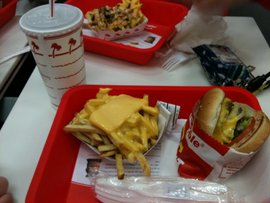 My first In-N-Out meal. Definitely. Going. Back.