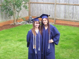 My friend and I before high school graduation.
