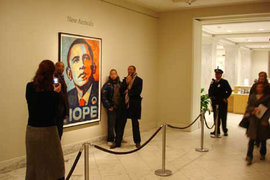 "National Portrait Gallery, Shepard Fairey's ""Hope"" Poster, 2009"