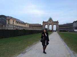 Neli Gacheva '14 traveled to Brussels for the Model European Union Conference.
