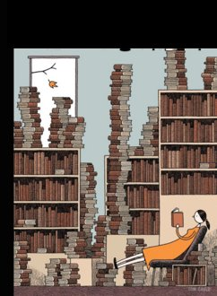 New Yorker Cover, Girl with Books