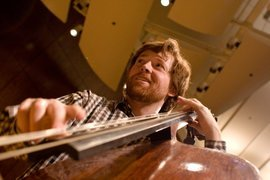 Nicholas Walker will be playing the double bass in the American Dissonances concert in the Hockett Recital Hall, this Tuesday, April 1st