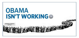 """Obama Isn't Working"" (http://www.mittromney.com, 2011)"