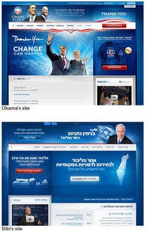 Obama (USA, 2008) & Netanyahu (Israel, 2009) Web sites (http://patriotmissive.com)