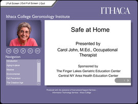Online training module developed by the Ithaca College Finger Lakes GEC rural training project.