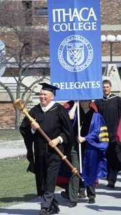 Outdoor procession during Peggy Williams's inauguration